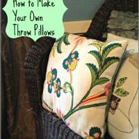 DIY: Make your own throw pillows