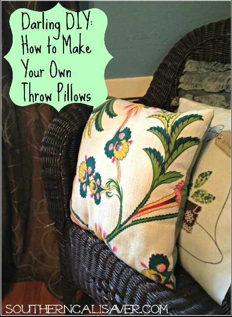 DIY: Make your own throw pillow