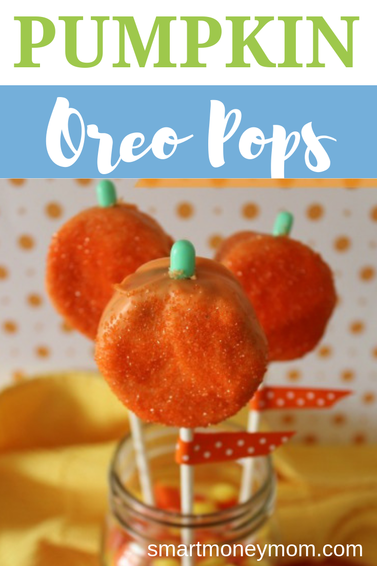 Pumpkin Oreo Pops. If you are planning a Fall Party here is a great little treat for guests! Make #PumpkinOreoPops with Oreos (which we've had plenty of deals on) these are super cute and will fun for your party! #food
