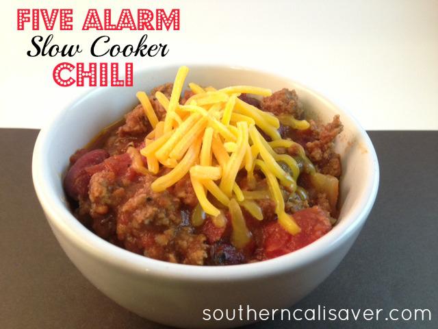 Five Alarm Slow Cooker Chili