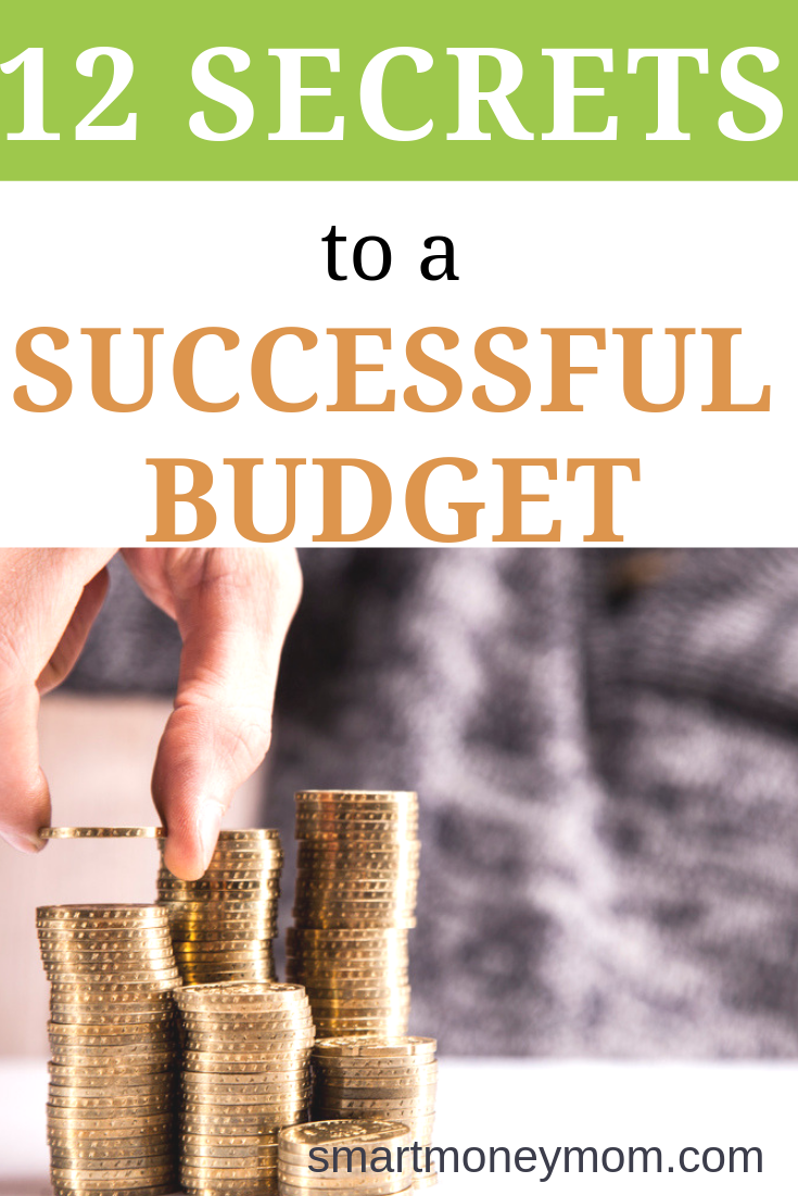 12 Secrets to a #SuccessfulBudget. There are many secrets to a successful budget, but these are the ones that have worked for me! It's important to be flexible, and to understand that learning a new budget will take time. #budgetingfinances #budgeting