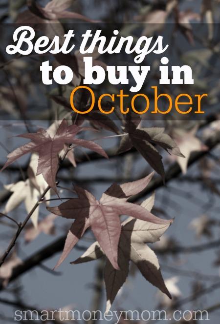 Best things to Buy in October