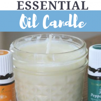 DIY Essential Oil Candle