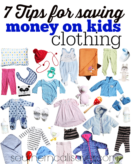 7 Tips for saving money on kids clothing