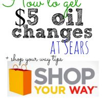 How to Use Shop Your Way Rewards + $5 Oil Change!