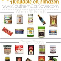 Whole 30 Foods + Paleo Foods on Amazon