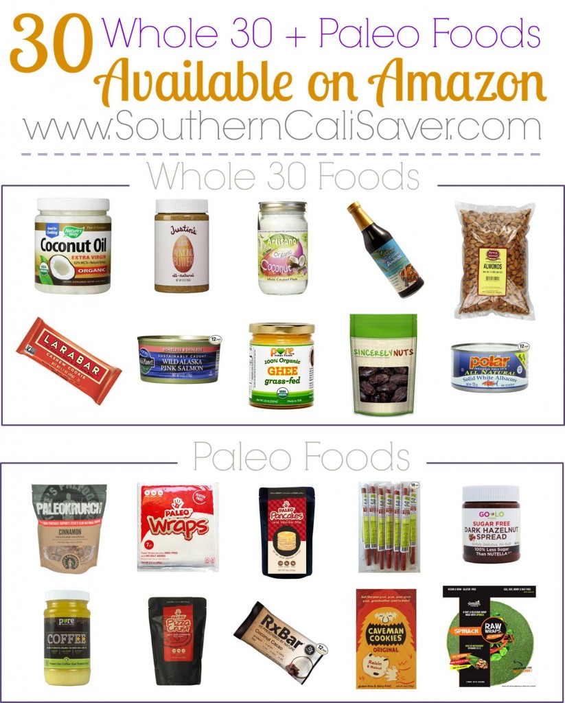 Whole 30 Foods and Paleo Foods on Amazon