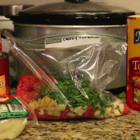 Cheesy tortellini Freezer meal