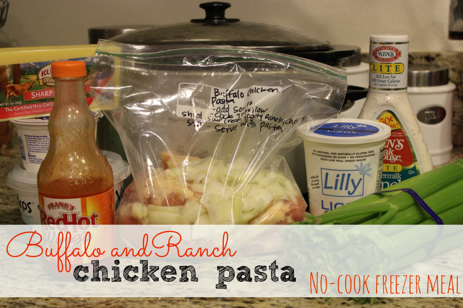 buffalo and ranch chicken pasta