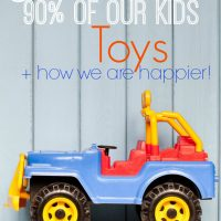 How we eliminated 90% of our kids toys {Less is best Series}