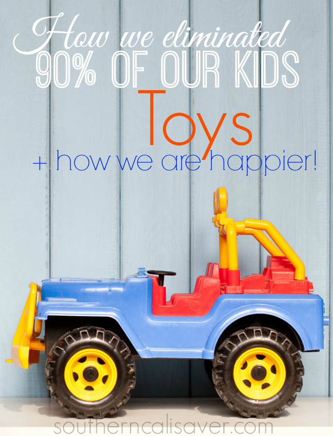 How we eliminated our kids toys