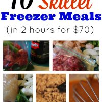 10 Freezer Skillet Meals (in 2 hours for $70!)