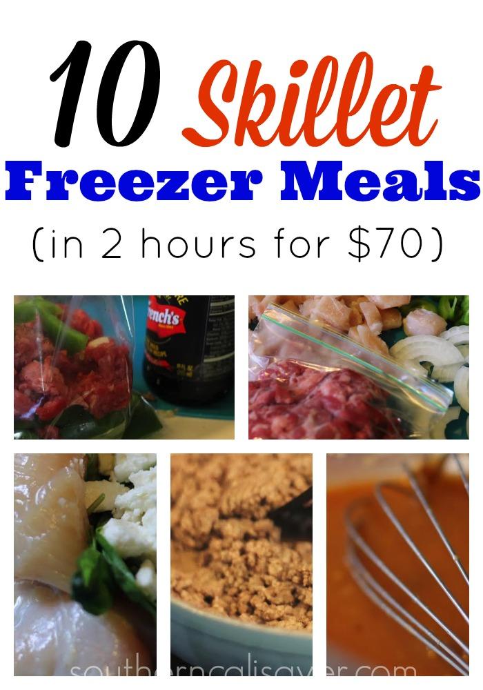 10 skillet freezer meals