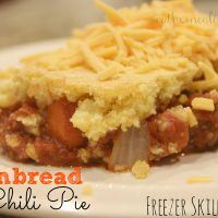 Cornbread Chili Pie: Freezer Skillet Meal