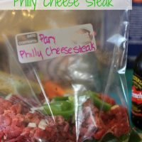 Philly Cheesesteak Freezer Meal