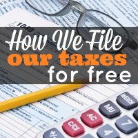 How we file our taxes for free