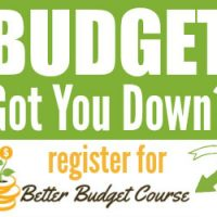 Get $15 off Better Budget Course this week only!