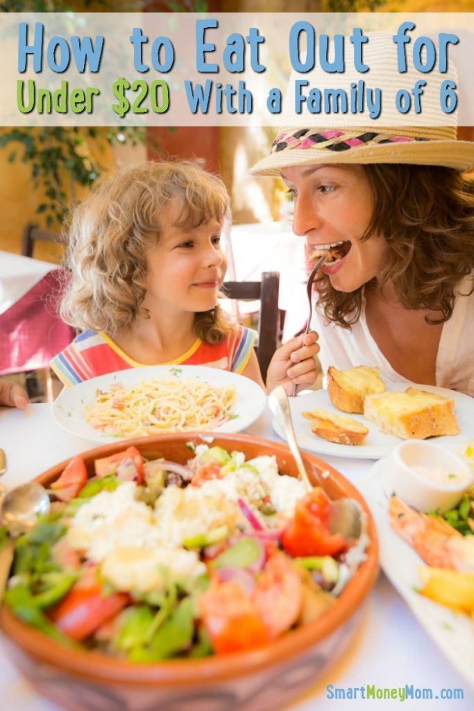 How to Eat Out for Under 20 with a Family of 6