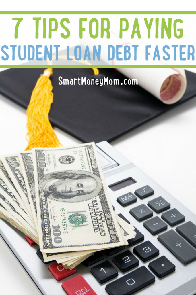 Start paying off student loan debt faster with these 7 tips.